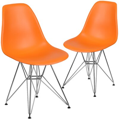 Ressler Modern Guest Chair Seat Color: Orange