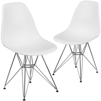 Ressler Modern Guest Chair Seat Color: White