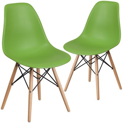 Ressler Guest Chair Seat Color: Green