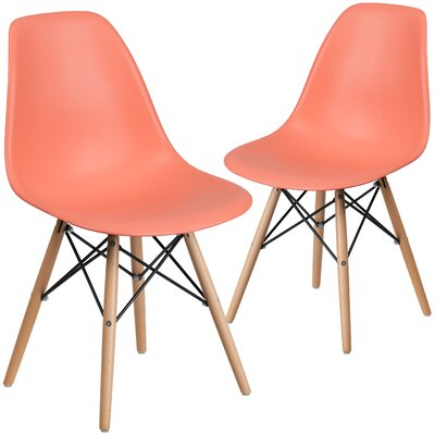 Ressler Guest Chair Seat Color: Peach