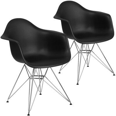 Restivo Modern Guest Chair Seat Color: Black