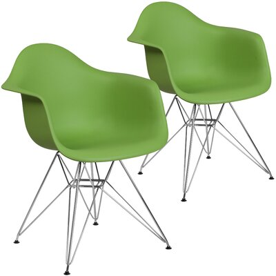 Restivo Modern Guest Chair Seat Color: Green