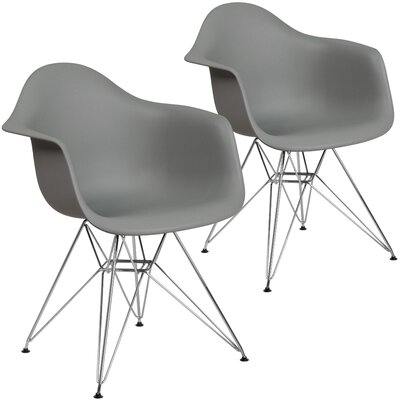 Restivo Modern Guest Chair Seat Color: Gray