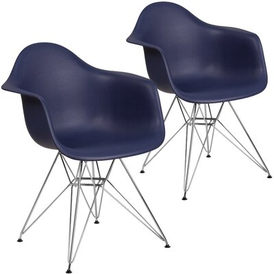 Restivo Modern Guest Chair Seat Color: Navy