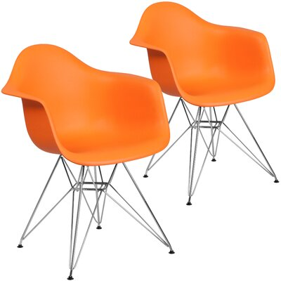 Restivo Modern Guest Chair Seat Color: Orange