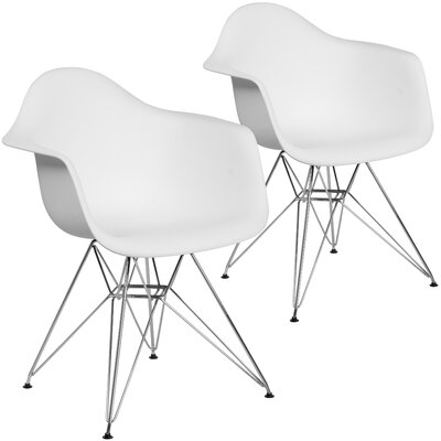 Restivo Modern Guest Chair Seat Color: White