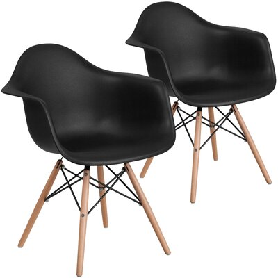 Restivo Guest Chair Seat Color: Black