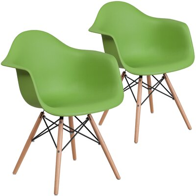 Restivo Guest Chair Seat Color: Green