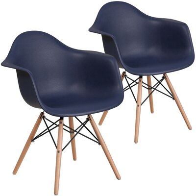 Restivo Guest Chair Seat Color: Navy