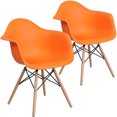 Restivo Guest Chair Seat Color: Orange