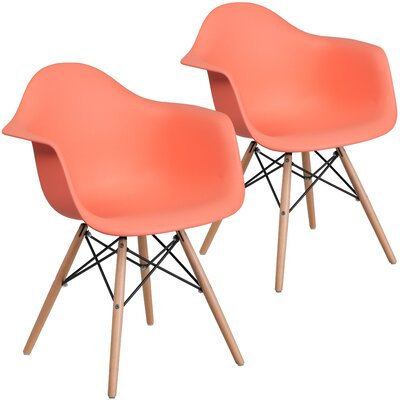 Restivo Guest Chair Seat Color: Peach