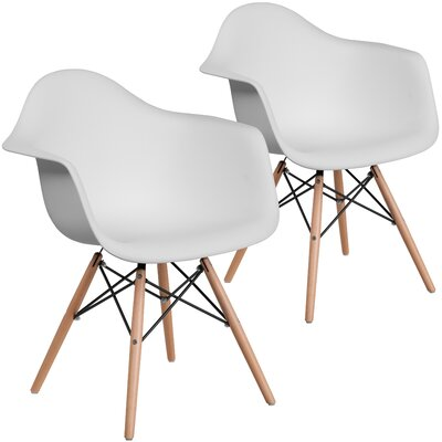 Restivo Guest Chair Seat Color: White