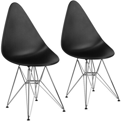Resto Guest Chair Seat Color: Black