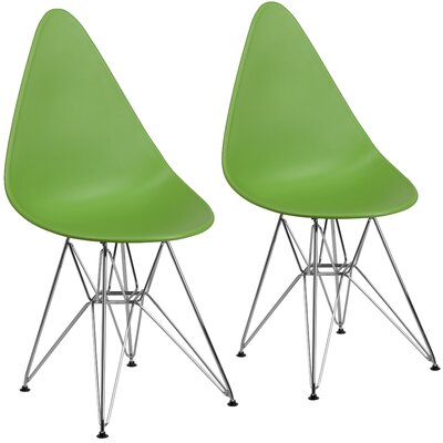 Resto Guest Chair Seat Color: Green