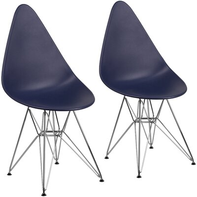 Resto Guest Chair Seat Color: Navy