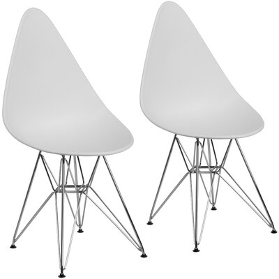 Resto Guest Chair Seat Color: White