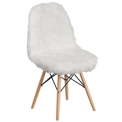 Alsop Side Chair Upholstery: White