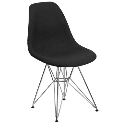 Altair Solid Side Chair Upholstery: Black