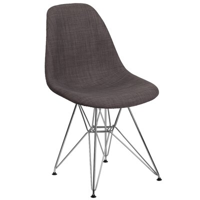 Altair Solid Side Chair Upholstery: Brown