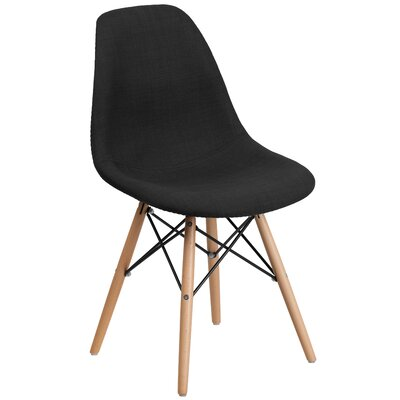 Altair Modern Side Chair Upholstery: Black