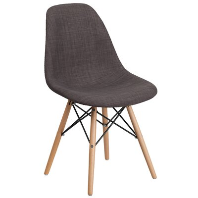 Altair Modern Side Chair Upholstery: Brown