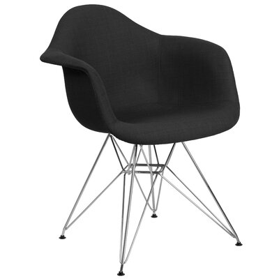 Altieri Solid Armchair Upholstery: Black