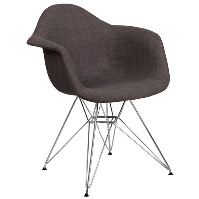 Altieri Solid Armchair Upholstery: Brown