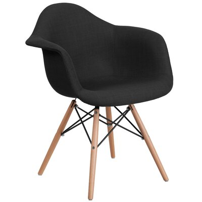 Altieri Modern Solid Armchair Upholstery: Black