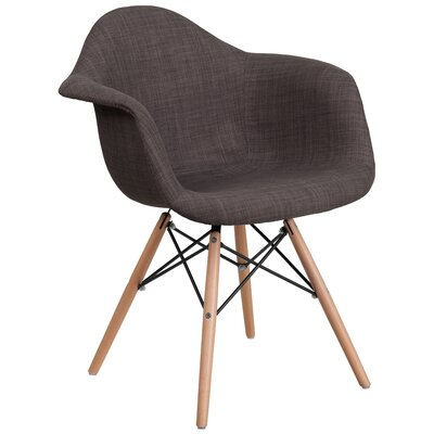 Altieri Modern Solid Armchair Upholstery: Brown