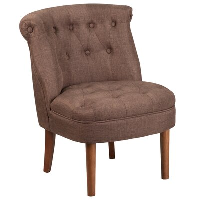 Rotterdam Upholstered Side Chair Upholstery: Brown