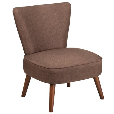 Pepe Side Chair Upholstery: Brown