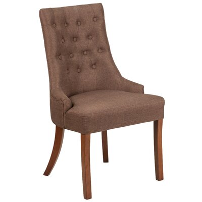 Rotterdam Traditional Upholstered Side Chair Upholstery: Brown