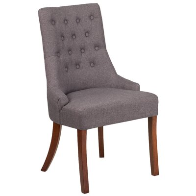 Rotterdam Traditional Upholstered Side Chair Upholstery: Gray