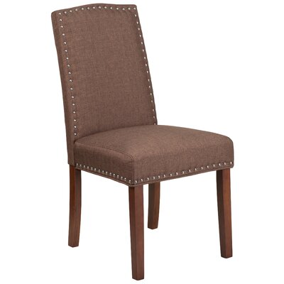 Rotterdam Upholstered Dining Chair Upholstery: Brown