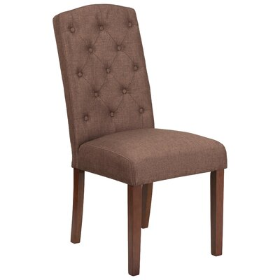 Rotterdam Traditional Parsons Chair Upholstery: Brown