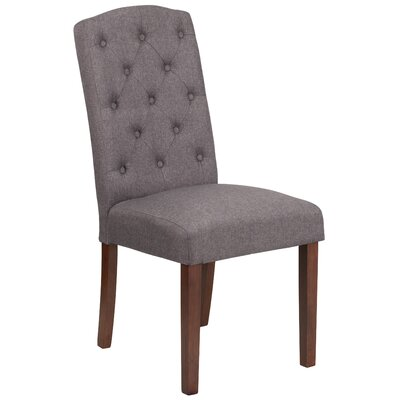 Rotterdam Traditional Upholstered Dining Chair Upholstery: Gray