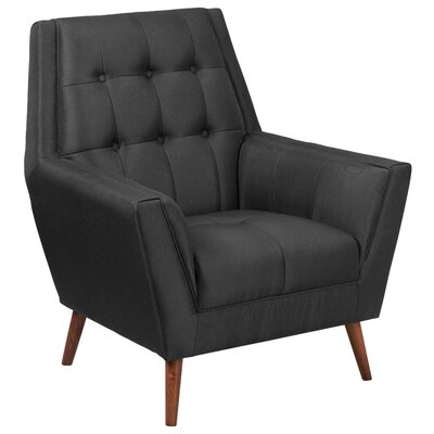 Bachman Upholstered Armchair Upholstery: Black
