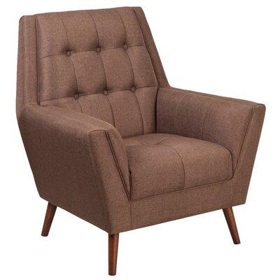 Bachman Upholstered Armchair Upholstery: Brown