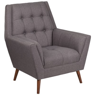 Bachman Upholstered Armchair Upholstery: Gray
