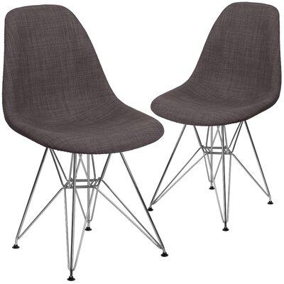 Ressler Upholstered Side Chair Upholstery: Brown