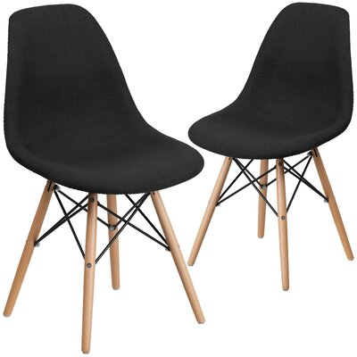 Ressler Fabric Side Chair Upholstery: Black