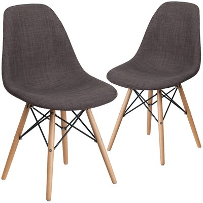 Ressler Fabric Side Chair Upholstery: Brown