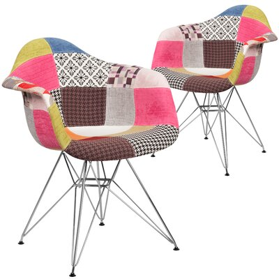 Restivo Plaid Side Chair Upholstery: Pink/Gray/Brown