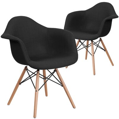Restivo Solid Side Chair Upholstery: Black