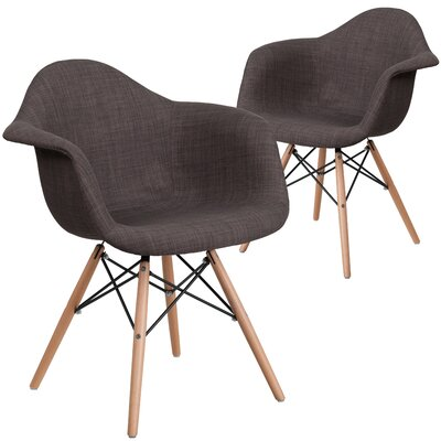 Restivo Solid Side Chair Upholstery: Brown