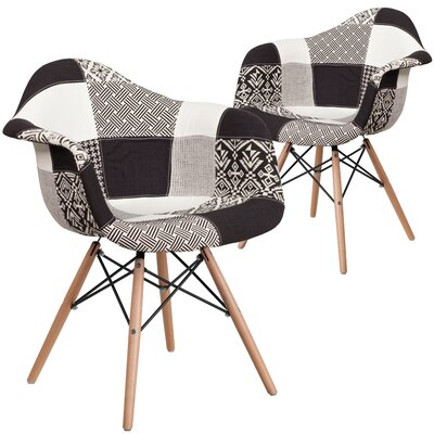 Restivo Side Chair Upholstery: White/Black