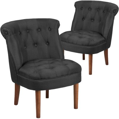 Orland Modern Side Chair Upholstery: Black