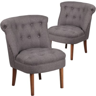 Orland Modern Side Chair Upholstery: Gray