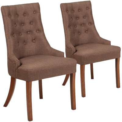 Orland Side Chair Upholstery: Brown