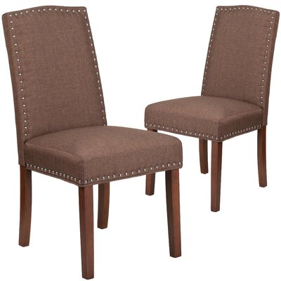 Orland Parsons Dining Chair Upholstery Color: Brown